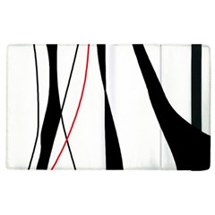 Red, white and black elegant design Apple iPad 3/4 Flip Case