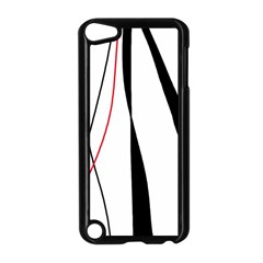 Red, white and black elegant design Apple iPod Touch 5 Case (Black)