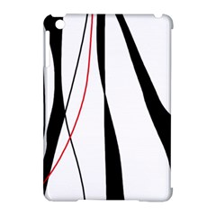 Red, white and black elegant design Apple iPad Mini Hardshell Case (Compatible with Smart Cover)