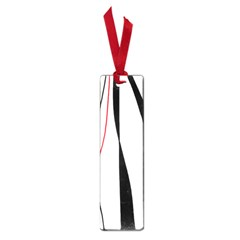 Red, white and black elegant design Small Book Marks