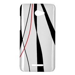 Red, white and black elegant design HTC Butterfly X920E Hardshell Case