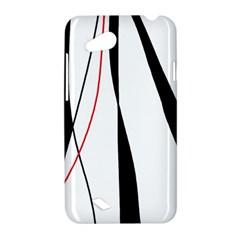 Red, white and black elegant design HTC Desire VC (T328D) Hardshell Case