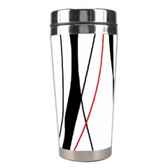 Red, white and black elegant design Stainless Steel Travel Tumblers