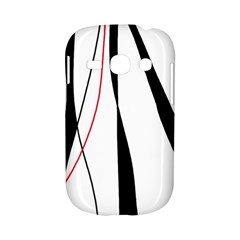 Red, white and black elegant design Samsung Galaxy S6810 Hardshell Case