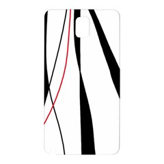 Red, white and black elegant design Samsung Galaxy Note 3 N9005 Hardshell Back Case