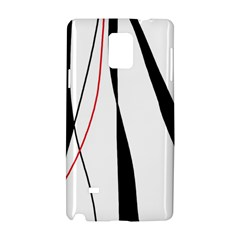 Red, white and black elegant design Samsung Galaxy Note 4 Hardshell Case