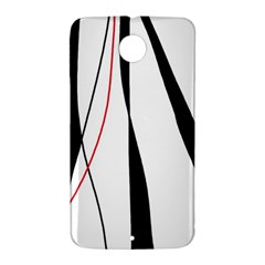 Red, white and black elegant design Nexus 6 Case (White)