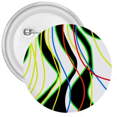 Colorful lines - abstract art 3  Buttons