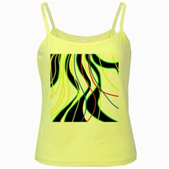 Colorful lines - abstract art Yellow Spaghetti Tank