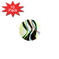 Colorful lines - abstract art 1  Mini Magnet (10 pack)