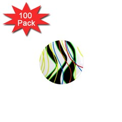 Colorful Lines   Abstract Art 1  Mini Magnets (100 Pack)