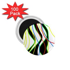 Colorful lines - abstract art 1.75  Magnets (100 pack)