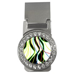 Colorful lines - abstract art Money Clips (CZ)