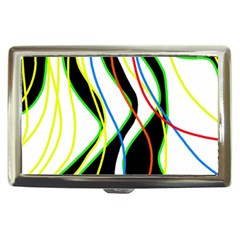 Colorful lines - abstract art Cigarette Money Cases