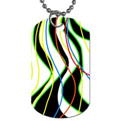 Colorful lines - abstract art Dog Tag (Two Sides)