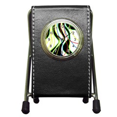 Colorful lines - abstract art Pen Holder Desk Clocks