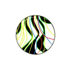 Colorful lines - abstract art Hat Clip Ball Marker