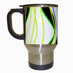 Colorful lines - abstract art Travel Mugs (White)
