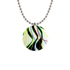 Colorful lines - abstract art Button Necklaces