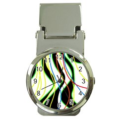Colorful lines - abstract art Money Clip Watches
