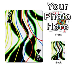 Colorful lines - abstract art Playing Cards 54 Designs
