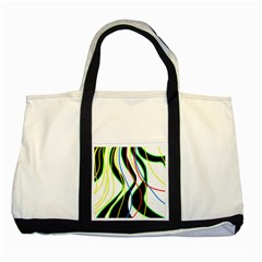 Colorful lines - abstract art Two Tone Tote Bag