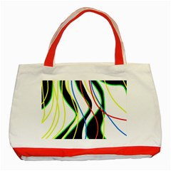 Colorful lines - abstract art Classic Tote Bag (Red)