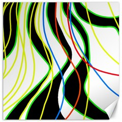Colorful lines - abstract art Canvas 12  x 12