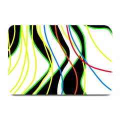 Colorful lines - abstract art Plate Mats