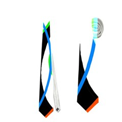 Colorful lines - abstract art Neckties (One Side)