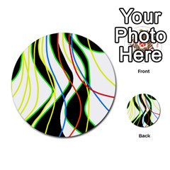 Colorful lines - abstract art Multi-purpose Cards (Round)