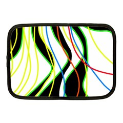 Colorful lines - abstract art Netbook Case (Medium)