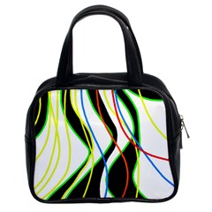 Colorful lines - abstract art Classic Handbags (2 Sides)