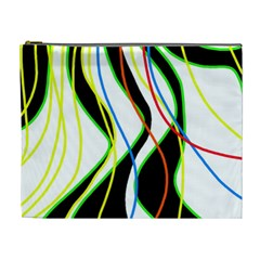 Colorful lines - abstract art Cosmetic Bag (XL)