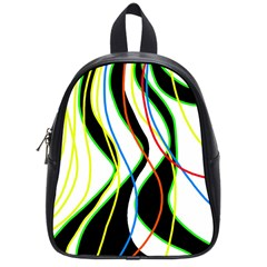Colorful lines - abstract art School Bags (Small)