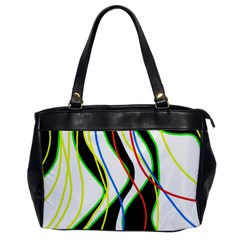Colorful lines - abstract art Office Handbags