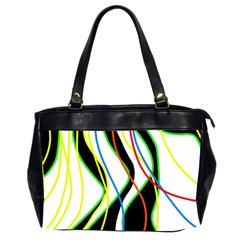 Colorful lines - abstract art Office Handbags (2 Sides)