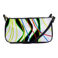 Colorful lines - abstract art Shoulder Clutch Bags
