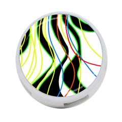 Colorful lines - abstract art 4-Port USB Hub (One Side)