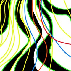 Colorful lines - abstract art Magic Photo Cubes