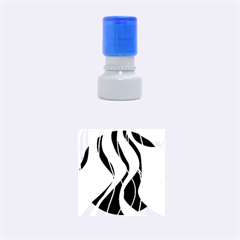 Colorful lines - abstract art Rubber Round Stamps (Small)