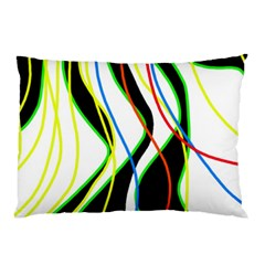 Colorful lines - abstract art Pillow Case (Two Sides)