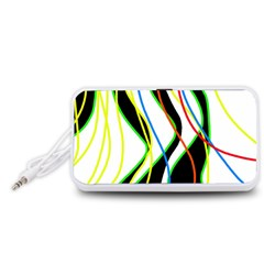 Colorful lines - abstract art Portable Speaker (White)