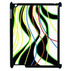 Colorful lines - abstract art Apple iPad 2 Case (Black)