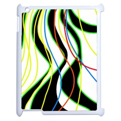 Colorful lines - abstract art Apple iPad 2 Case (White)