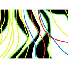 Colorful lines - abstract art Birthday Cake 3D Greeting Card (7x5)