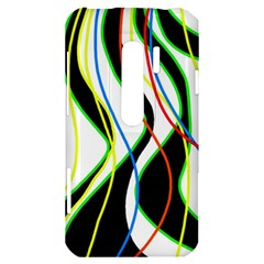 Colorful lines - abstract art HTC Evo 3D Hardshell Case