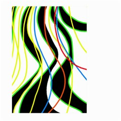Colorful lines - abstract art Large Garden Flag (Two Sides)