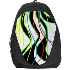 Colorful lines - abstract art Backpack Bag