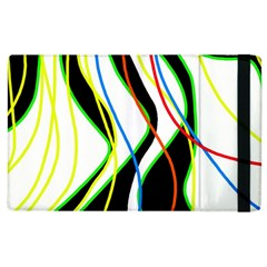 Colorful lines - abstract art Apple iPad 2 Flip Case